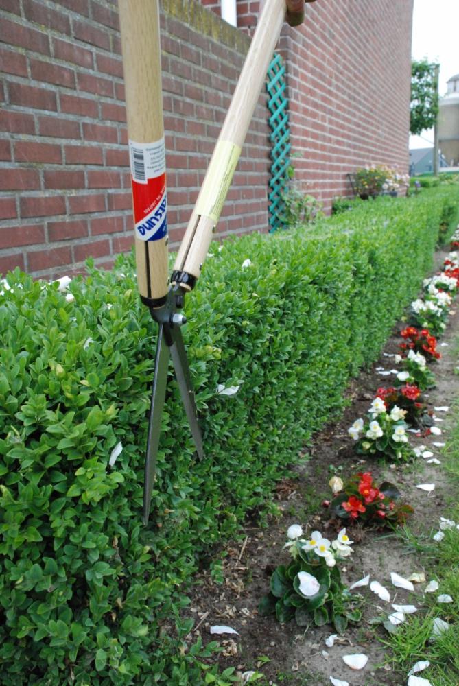 Hedge shear okatsune 205 long handled medium bladed for Lightweight long handled garden shears